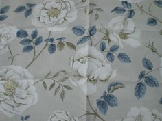 "SANDERSON VINTAGE STYLE FABRIC REMNANT ""ROSALIE A"" LINEN BLEND 89 CM X 145 CM in Crafts, Sewing & Fabric, Fabric 