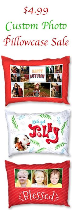 $4.99 Custom Photo Pillowcase Sale! {+ s/h} ~ these pillowcases make the CUTEST gifts to stash away, too!
