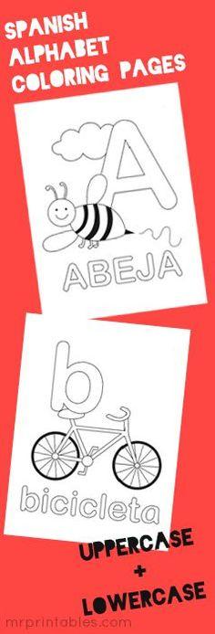 Letras para colorear y/o trabajar el abecedario y las palabras que empiezan por cada letra