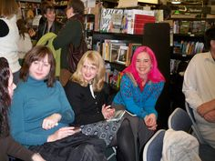 So many writers came to my first bookstore reading at Annie Blooms in January of 2009, I won't post all the pictures here but this one has a special place in my heart. You may recognize the brilliant YA authors Laini Taylor (in the pink hair) and Lisa Schroeder (in the middle) The woman to their right is Lisa Wolfson also known as LK Madigan, the author of the amazing book Flash Burnout. Lisa passed away from cancer a year ago. She is missed by the entire Portland writing community.