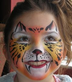Brilliant tiger face - sparklesfacepainting.co.uk