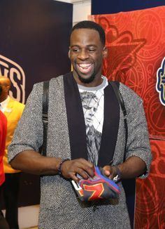 Draymond Green of the Western Conference AllStar Team exits the locker room after the NBA AllStar Game as part of the 2017 NBA All Star Weekend on...