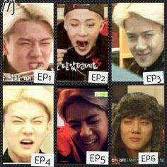 Exo Showtime Sehun poker face.