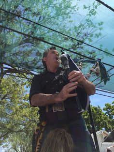 Wicked Tinkers -- Aaron Shaw of the Wicked Tinkers. Playing at the Scottish Games.   Woodland, Ca. 4-26-15