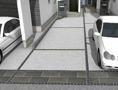 【注文住宅の外構徹底解説】コンクリートは温度によって膨張・収縮することをご存知ですか?それを吸収するためにコンクリートには一定間隔で目地を入れます。ただ入れただけだと無骨な感じがする目地。全体の雰囲気に合わせて素材を選び、適切な位置に入れることで耐久性が伸びおしゃれな車庫デザインになります。