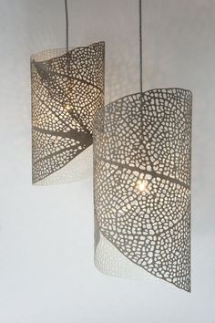 Sometimes things just fall perfectly into place. And Im not only referring to falling leaves in autumn. The idea for this laser-cut lampshade arose in a split second. I was working on two seperate projects. A client asked me to design a leaf pattern that had to be engraved into a table top. At the same time, I was experimenting with HPL -a strong and durable material which consists of highly compressed paper and resin. I found that the bottom texture of the material had a great rough and…