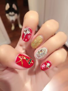 Fancy Christmas gel nail