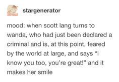 This is so cute - Scott Lang Scarlett witch Wanda maximoff