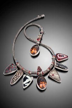 Jeanie Pratt - Photographer Hap Sakwa. Woven metal pendant.