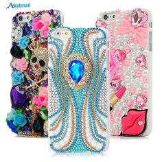Retro Cool Skull Rhinestone Case For iPhone 6S Plus 5.5 Luxury Glitte 3D Diamond Shell Crystal Hard Back Cover For iPhone 6SPlus