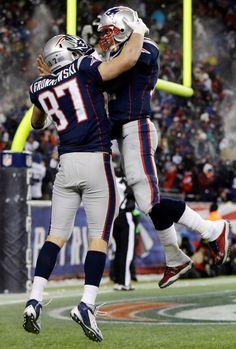 Gronk and Tom Brady