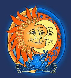 sun and moon art hippie - Google Search