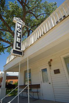 Historic Phelps Hotel in Big Springs, Nebraska.
