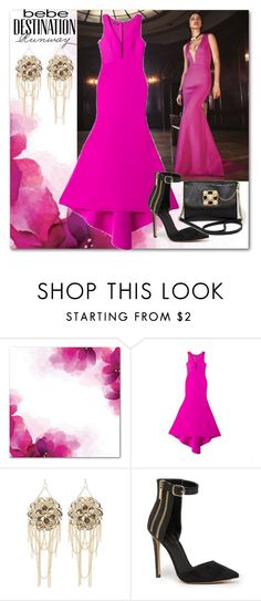 """""""Destination Runway with Bebe : Contest Entry"""" by suncokret-12 ❤ liked on Polyvore featuring Bebe and beiconic"""