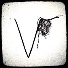 fanciful letter 'v'