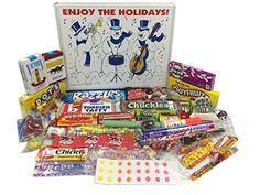 Great Christmas Holiday Snowman Gift Basket Box Retro Nostalgic Candy, ,