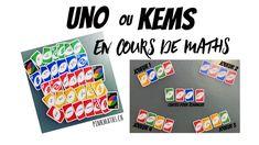Uno ou Kems en cours de maths - YouTube Math Work, Blog, Make It Yourself, Instagram, Youtube, Math Class, Cards