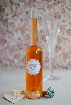 Elderflower & Rose Syrup - This pink, floral, slightly tart yet sweet liquid makes a superb gift. Yes, you can buy it, and if you're reading this in the other ten months of the year when it's out of season, by all means do. But promise yourself you'll make the effort to create your own. A pretty bottle brought to a dinner party makes a gift that will be remembered