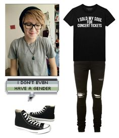 """""""Agender/Genderless"""" by the-uninportant-emo ❤ liked on Polyvore featuring AMIRI, Converse, genderless and agender"""