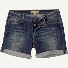 Blue Vintage Denim Shorts at Fat Face
