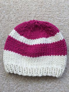 Baby Hat with Stripes Size 12-18 months