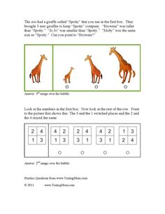 Gifted test sample questions: Kindergarten through 3rd grade ...