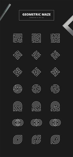 Geometric Maze Logos Templates by Graphicfresh on Creative Market logo Geometric Maze Logos Templates by Graphicfresh on Creative Market logo Maze Tattoo, Label Design, Web Design, Cadre Design, Puzzle Logo, Tatuagem Diy, 3d Laser Printer, Typography Design, Branding Design