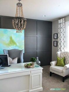 gray accent wall dark gray board and batten accent wall via gray accent wall bedroom . gray accent wall ...
