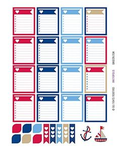Monthly Planner Stickers Heart Nautical Sampler Stickers Planner Labels Compatible with Erin Condren Vertical Life Planner 29 Elements Daily Planner Printable, Printable Planner Stickers, Monthly Planner, Happy Planner, Best Planners, Day Planners, Scrapbook Page Layouts, Scrapbooking, Digital Paper Free