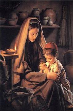 Jesus Praying with Mary