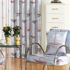 Sailing Mediterranean Grey Kids Curtains - Curtains | Milan Curtains  #curtains #decor #homedecor #homeinterior #grey