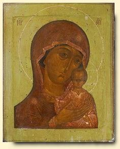 Virgin of Saint Peter of Moscow - exhibited at the Temple Gallery, specialists in Russian icons