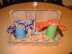 DIY: Manger scene! Nativity scene from an Egg carton. (12/22/2013) Christmas  (CTS)