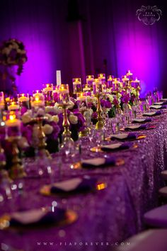 Wedding reception decor ideas luxury weddings gold purple luxorious wedding head table gold purple indian wedding decor ideas greenville sc junglespirit Choice Image