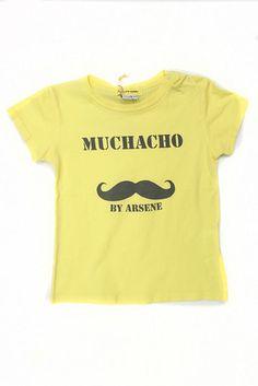 Arsene Yellow Mustache Tee 18m