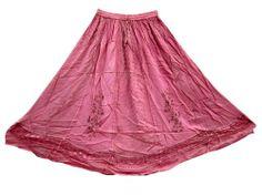Gypsy Skirts Rayon Stonewashed Ari Embroidered Pink Maxi Long Skirt for Women Mogul Interior,http://www.amazon.com/dp/B00IAK0NDG/ref=cm_sw_r_pi_dp_chl9sb0ZM49XD834