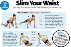 Nobody wakes up THIN: Workout: Waist exercises