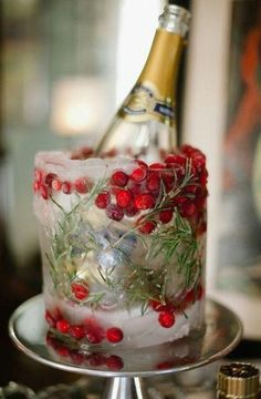 Keep the bubbles chilled with a Holiday themed ice bucket.