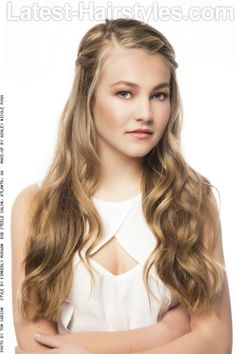 Long Naturally Textured Hairstyle with Braid