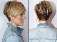 Color Ideas for Short Hair, Love this cut!