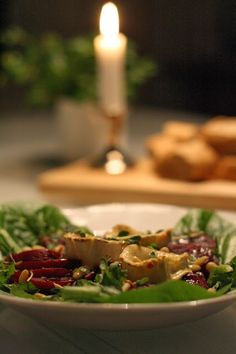 Beetroot & goat cheese salad