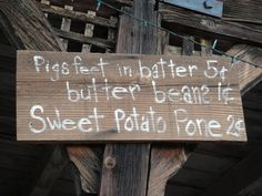 A sign in some unknown part of the Southern United States,