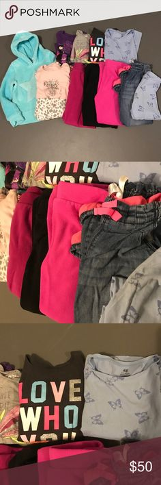 12 piece! Girls size 6 bundle ✨ Brands include: Gap, OshKosh, Carters, Circo, H&M,     3 pair fleece pants, 1 pair leggings, 1 fleece lined jeans, 4 long sleeve shirts,  1 fleece hooded sweatshirt, 1 pair fleece pajamas.  Everything in very good or excellent used condition. Other