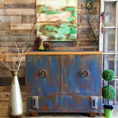 Cabinet Side Board or TV Console #rusticliving #rustic #antique #cottage…