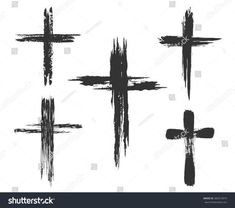 Find Hand Drawn Christian Cross Signs Brush stock images in HD and millions of other royalty-free stock photos, illustrations and vectors in the Shutterstock collection. Tattoo Men Small, Cross Tattoo For Men, Cross Tattoo Designs, Cross Designs, Tattoo Designs Men, Small Tattoos, Black Cross Tattoos, Cross Tattoo On Hand, Temporary Tattoos