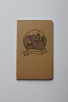 etsyfindoftheday | SUGGESTED SHOPS | 3.6.14 featured shop name: livemoveexist suggested & run by: iwillcherishthis  LOVE the paper goods in iwillcherishthis' shop, livemoveexist. there are vintage and handmade options, my favorite being the pictured large 'explore' notebook — i think it goes pretty dang well with my curation blitz earlier tonight!