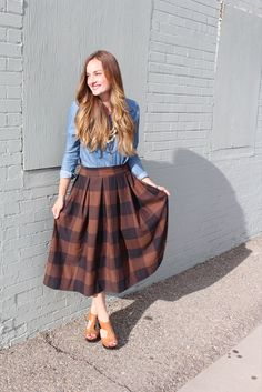 skirt tutorial, and how to make pleats more easily                              …