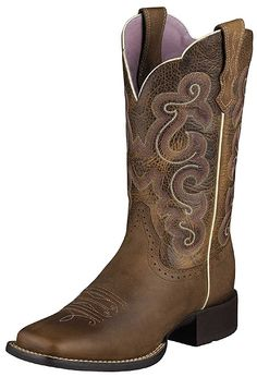 Have you been looking for a new pair of cowboy boots made by Ariat? This pair of cowboy boots features a 12 shaft height, R toe shape, and a rubber outsole. Ariat Boots Womens, Cowboy Boots Women, Western Boots, Cowboy Western, Western Wear, Cowboy Girl, Western Girl, Ladies Boots, Western Style