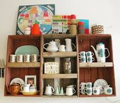 How to use Vintage crates in the kitchen.