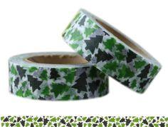 Masking Tape - Washi Tape TANNENBAUM grün - ein Designerstück von Fitzi-Floet bei DaWanda